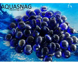 Стеклянные камушки марблс,  синии, 500г