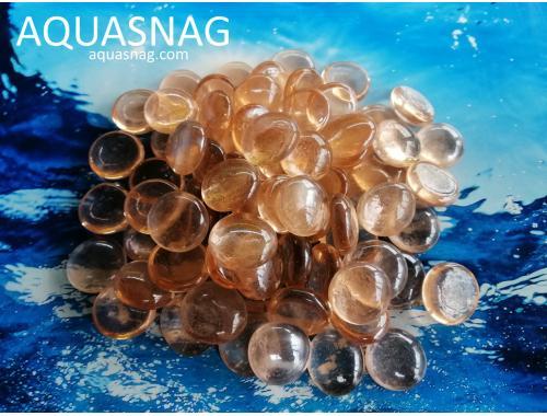 Фото Стеклянные камушки марблс, светло-коричневые, 1кг Купить