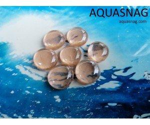 Стеклянные камушки марблс, светло-коричневые, набор из 7шт