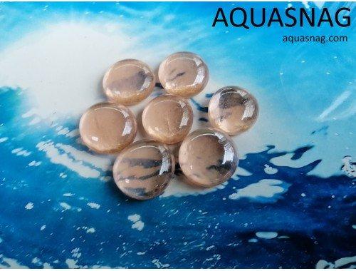 Фото Стеклянные камушки марблс, светло-коричневые, набор из 7шт aquasnag.com