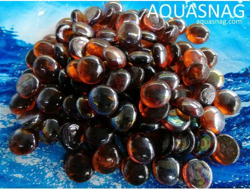 Фото Стеклянные камушки марблс, темно коричневые, 1кг Купить
