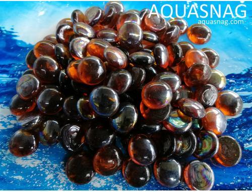 Фото Стеклянные камушки марблс, темно коричневые, 250г Купить