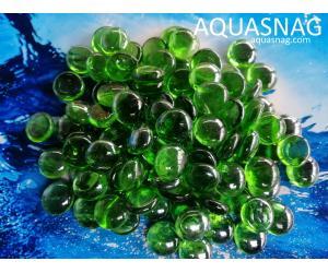 Стеклянные камушки марблс, зеленые, 1кг
