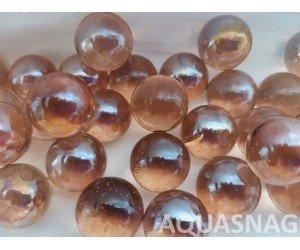 Стеклянные шарики  светло-коричневые 1000г, д1.6см