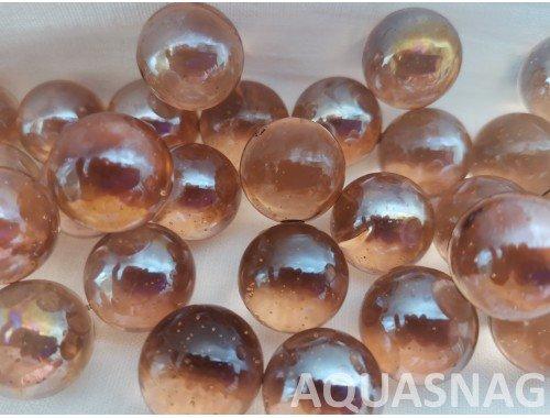 Фото Стеклянные шарики  светло-коричневые 1000г, шт,  д1.6см aquasnag.com