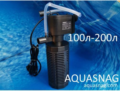Фото Внутренний фильтр Hidom AP-1200L от 100 до 200л,  800л/ч, 13W Смотреть