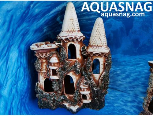 Фото Замок огромный,  дл 30см, шир 16см, выс 40см, коричневый Купить