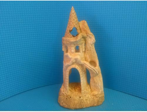 Фото Замок с корягой средний , д-11см, ш-8см, в-22,5см Купить